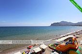 Вид на пляж - Отель Крым в Коктебеле - Феодосия