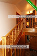 Лестница - апартаменты 2й этаж в частном доме на ул. Ленина 120Б