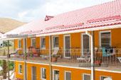 Вид с кафе Коктевилль в Коктебеле, Крым.