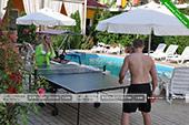 теннис -  отель Коктевилль в Коктебеле - Крым.