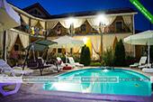 Вечерний вид -  отель Коктевилль в Коктебеле - Крым.