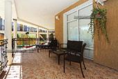Общая площадка - Гостиница Feliz Verano в Коктебеле Крым.