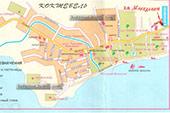 Карта - Гостевой дом Македония в Коктебеле, Крым, Феодосия